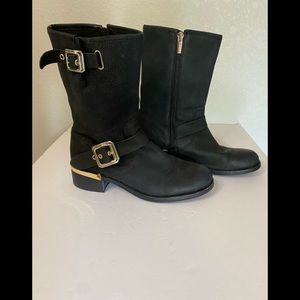 Vince Camuto Windy Leather  Moto boot 7.5